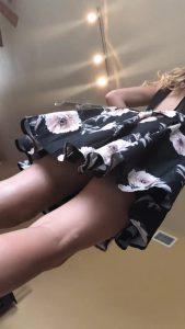 Upskirt twirling butt gif