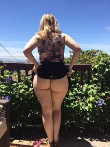 Phat Ass in garden